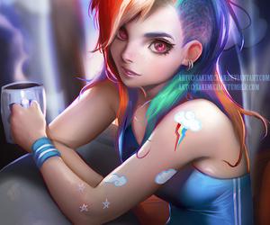 my little pony, art, and rainbow dash image