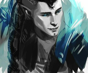 solas, dragon age inquisition, and dread wolf image