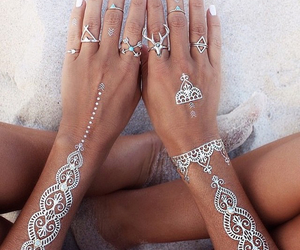tattoo, summer, and nails image