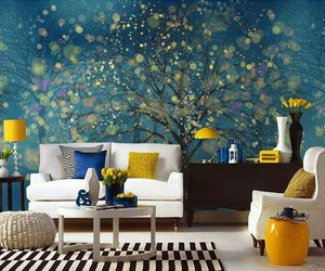 mural, pretty, and tree image