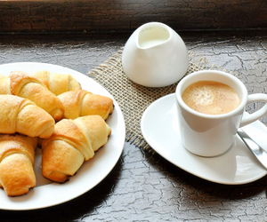candy, coffee, and croissant image
