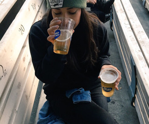 girl, drink, and clothes image