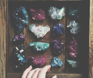 crystal, grunge, and stone image