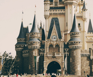 castle, disney, and people image