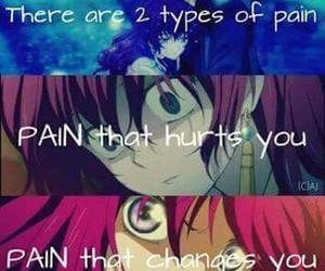 anime, quote, and pain image