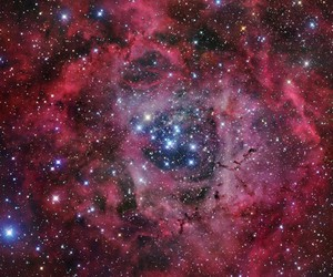 pretty, pink, and space image