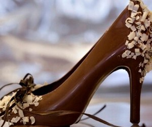 chocolate, shoes, and sweet image