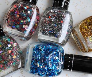 nail polish, glitter, and nails image