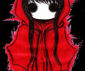 emo, little red riding hood, and red image