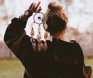 girl, dream catcher, and hair image