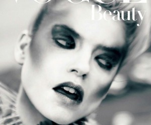 black and white, model, and Vogue Japan image