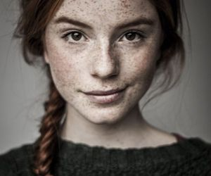 girl, freckles, and red hair image