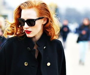 jessica chastain and redhead image
