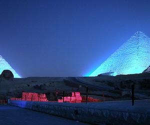 egypt, pyramids, and night image