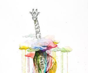 giraffe and art image