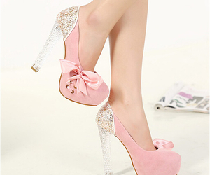 chaussures, ribbon, and heels image