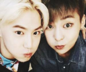 xiumin, exo, and suho image