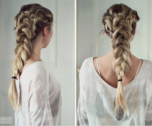 beach, blonde, and braid image