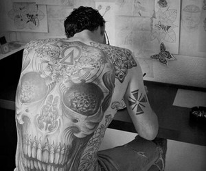 art, black and white, and punk image
