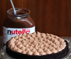 food, delicious, and nutella image