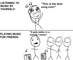 music, funny, and friends image