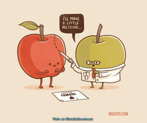apple, funny, and famous image
