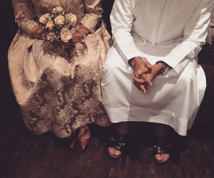couple, wedding, and muslim image