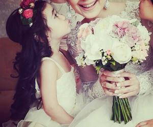 girl, wedding, and bride image