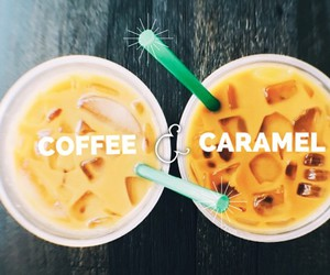 caramel, coffee, and starbucks image