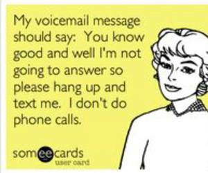 introvert, phone, and voicemail image