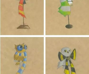 harry potter, hogwarts, and owl image