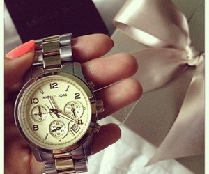 Michael Kors, nails, and watch image