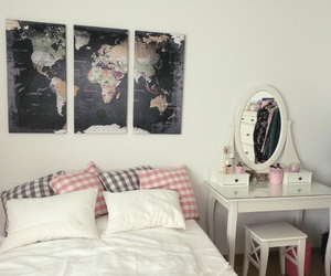 ikea, worldmap, and whiteandrosa image