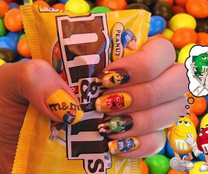 m&m's, nails, and swag image