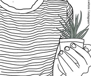 outline, plants, and drawing image