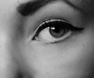 black and white, eyes, and petra karlsson image