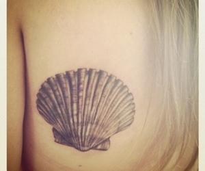 tattoo, seashell, and shell image