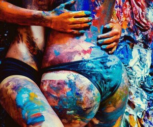 lesbian, love, and colors image