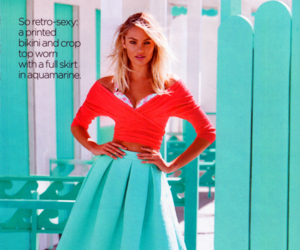 fashion, skirt, and model image