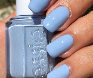 essie, blue, and nails image