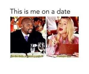 date, funny, and salad image
