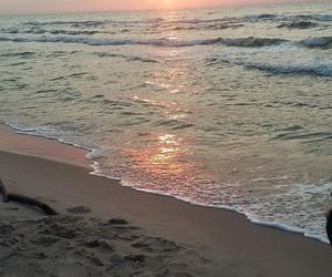 beach, sun, and balticsea image