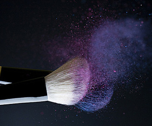 Brushes, purple, and makeup image