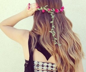 hair and flowers image