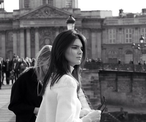 black and white, fashion, and kendall jenner image