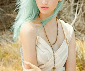hair, pretty, and blue image