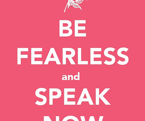 pink, quote, and fearless image
