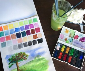 aesthetic, aquarelle, and art image