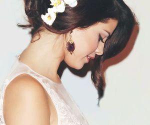 selena gomez, selena, and flowers image