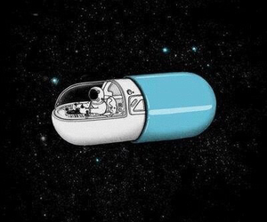 space, pills, and astronaut image